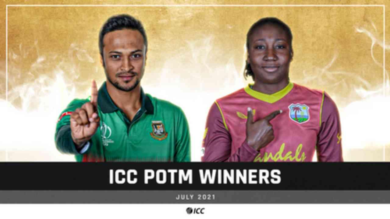 Shakib Al Hasan, Stafanie Taylor voted ICC players of the month for July |ഷാക്കിബ് അൽ ഹസൻ, സ്റ്റഫാനി ടെയ്ലർ ജൂലൈയിലെ ICC കളിക്കാരെ തിരഞ്ഞെടുത്തു_40.1