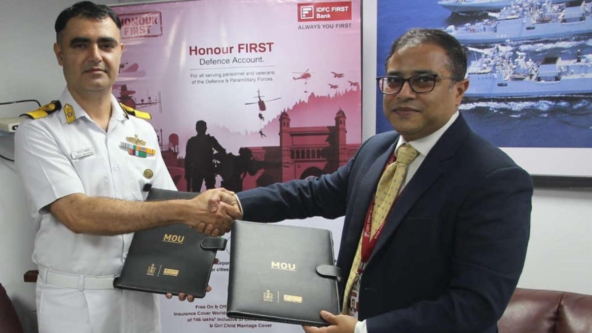 Indian Navy, IDFC FIRST bank bring 'Honour FIRST' banking solutions| ഇന്ത്യൻ നേവി, IDFCഫസ്റ്റ് ബാങ്ക് 'ഹോണർ ഫസ്റ്റ്' ബാങ്കിംഗ് സൊല്യൂഷൻസ് കൊണ്ടുവരുന്നു_40.1