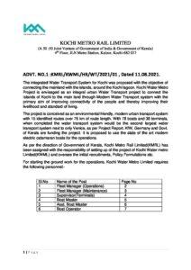 KMRL Recruitment 2021- Official Notification_40.1