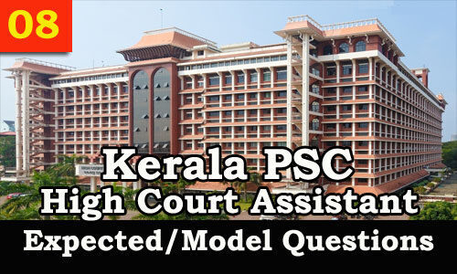 Kerala PSC & HCA – General English Model Questions & Solutions | Practice now_40.1