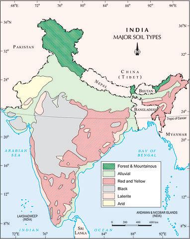 ഇന്ത്യയിലെ പല തരം മണ്ണുകൾ: വർഗ്ഗീകരണവും സവിശേഷതകളും(Soils of India: Classification and Characteristics)_50.1
