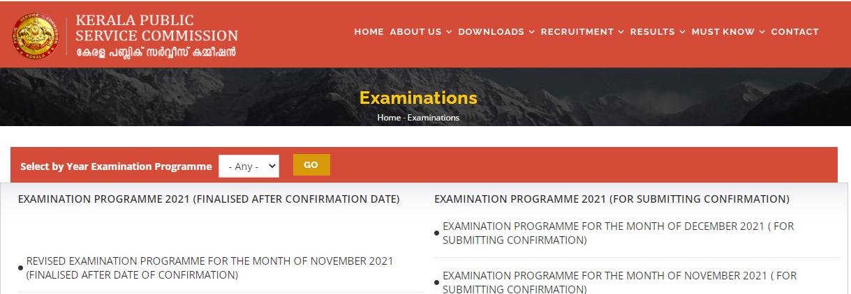 Kerala PSC Exam Calendar November (Revised) 2021| Check Upcoming Exams_50.1