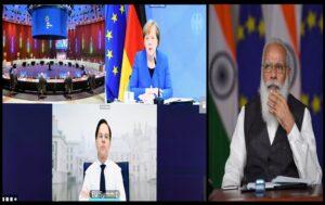 PM Modi Participates in Virtual India-EU Leaders' Meeting   व्हर्च्युअल इंडिया-ईयू नेतेमंडळींच्या बैठकीत पंतप्रधान मोदी सहभागी_40.1