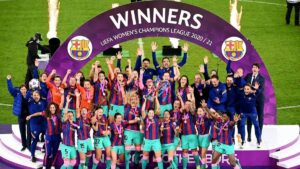 Barcelona Women beat Chelsea Women to win Women's Champions League trophy   बार्सिलोना महिला संघाने चेल्सी महिला संघाचा पराभव करून महिलांचा चॅम्पियन्स लीग करंडक जिंकला_40.1