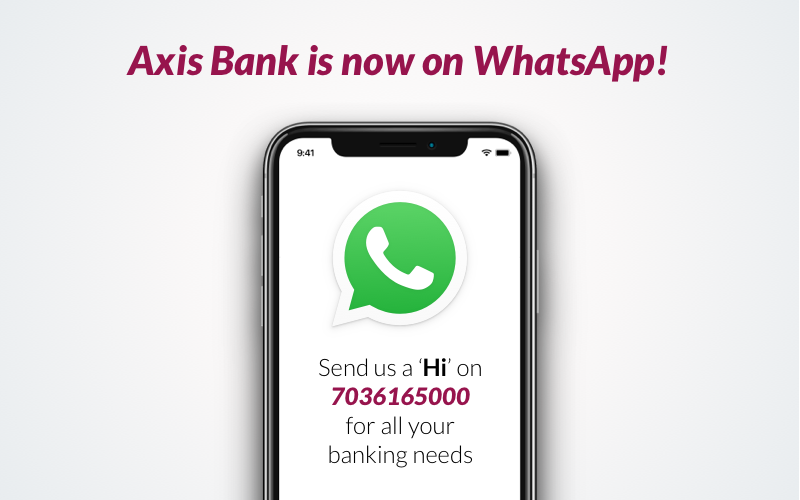 Axis Bank crosses one million customers on WhatsApp banking_40.1