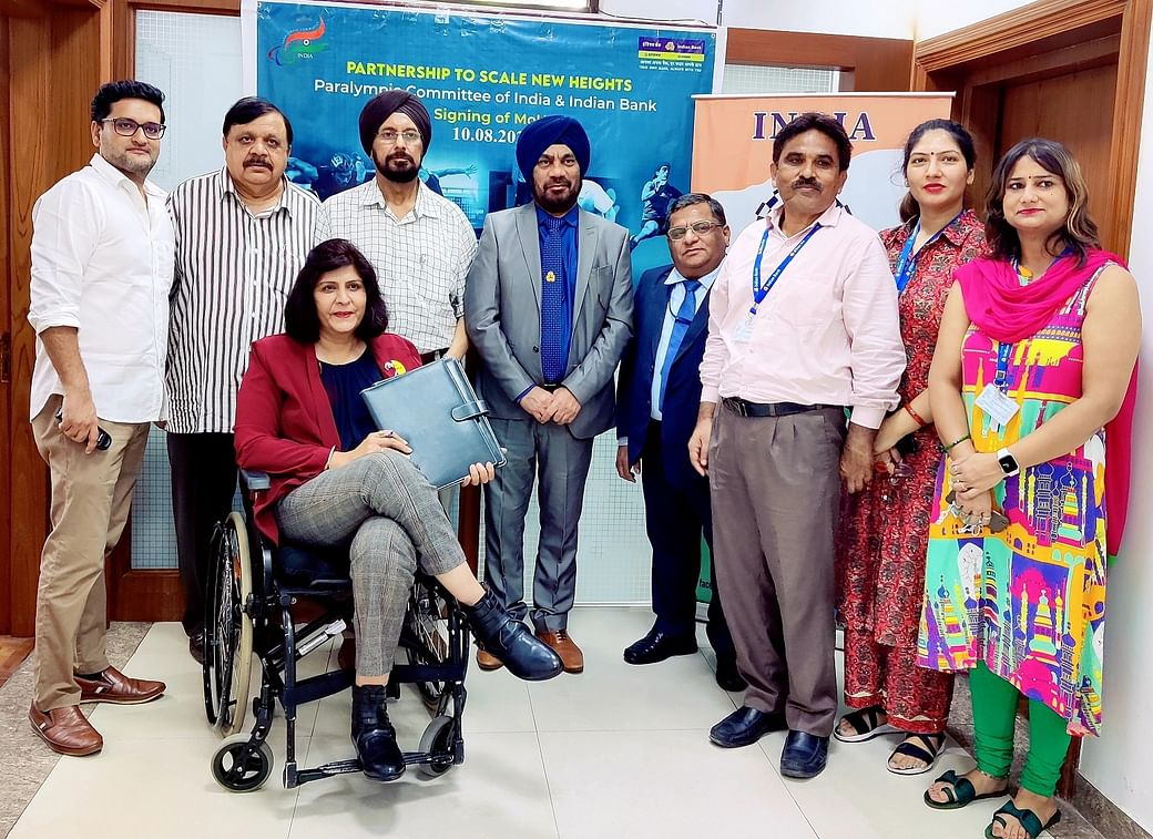 Indian Bank signs MoU with Paralympic Committee_40.1