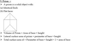 Mensuration Formula For 2D And 3D Shapes | 2D आणि 3D आकारांसाठी मेन्सुरेशन फॉर्म्युला_90.1