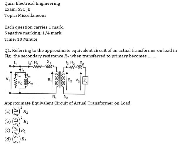ssc-je electrical mcqs,quiz: ssc-je electrical |_40.1