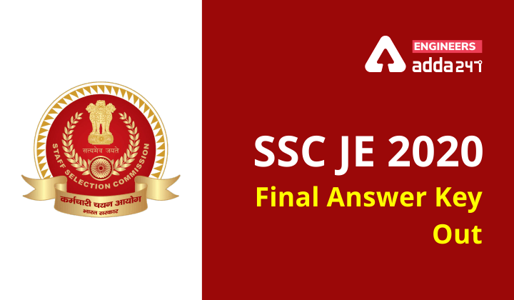 SSC JE 2021: Final Answer key out Checkout Now!  _40.1