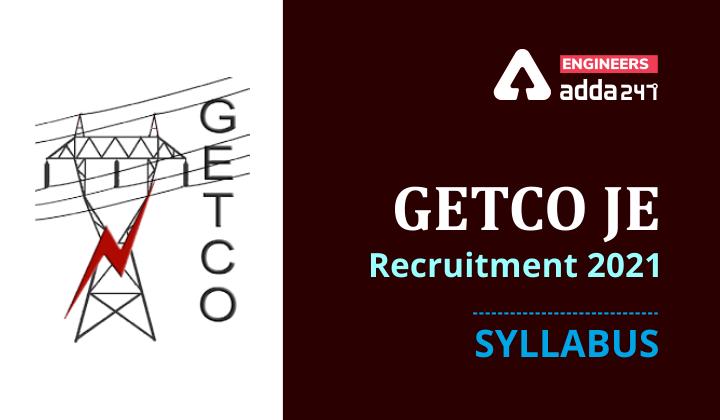 GETCO JE Vidyut Sahayak Syllabus 2021 |_30.1