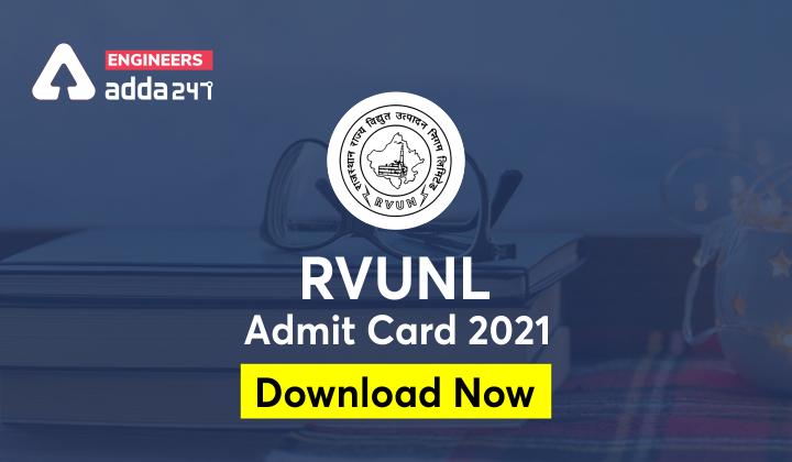 RVUNL JE Admit Card 2021, Checkout direct link to download |_30.1