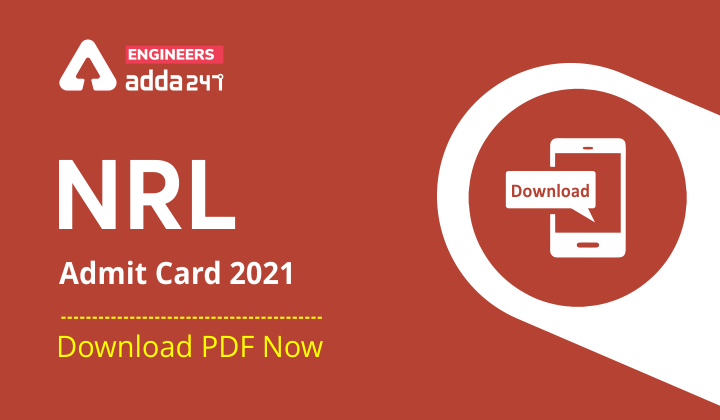 NRL Admit Card 2021 Out Download [PDF] Now |_30.1