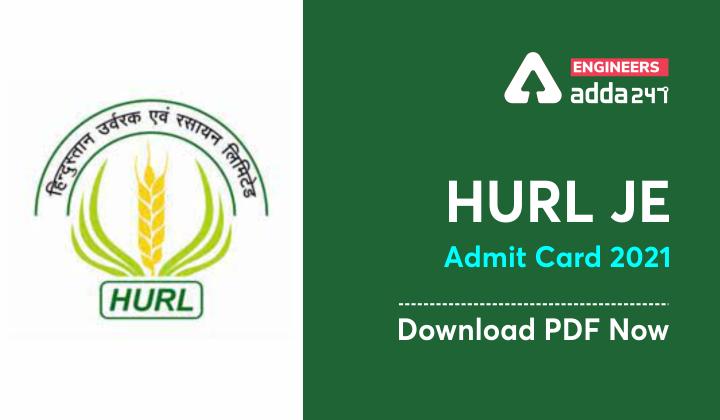 HURL JE Admit Card 2021, Download [PDF] Now |_30.1