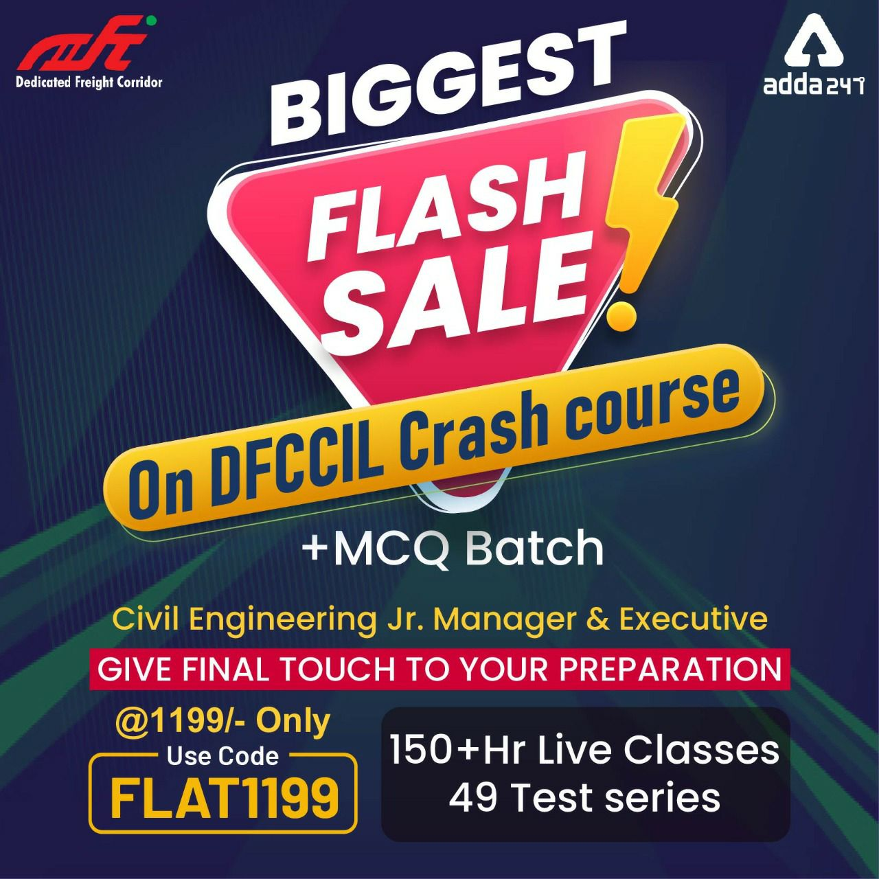 DFCCIL Civil Engineering Live Classes, Give final touch to your preparation  _30.1