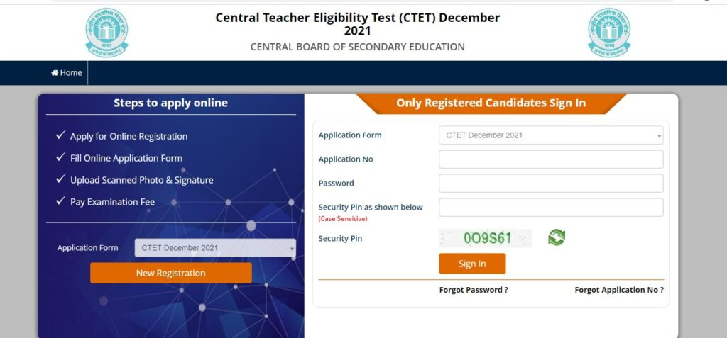 CTET Application Form 2021, Apply Online for CTET Exam_50.1