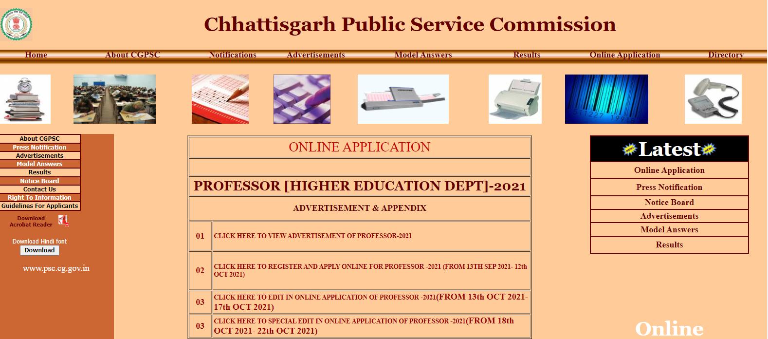 CGPSC Professor Recruitment 2021: Notification Out For 595 Professor Posts_30.1