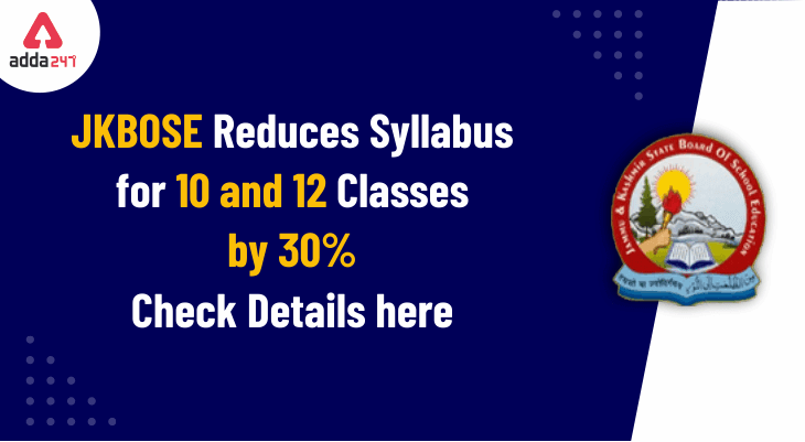 JKBOSE Reduced Syllabus For 10th & 12th Class