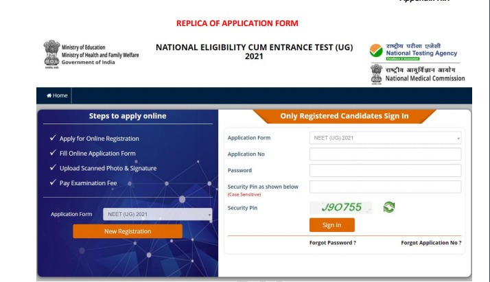 NEET 2021 Application Form (Out) - How to Apply Online_50.1