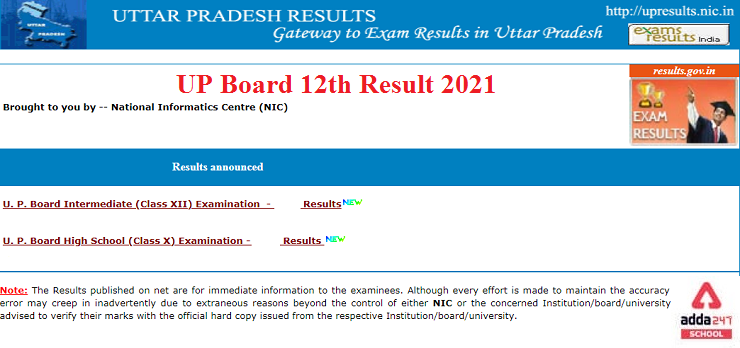 UP Board 12th Result, UPMSP 12th Result 2021 Out @upresults.nic.in_30.1