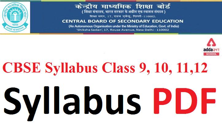 Cbse new syllabus