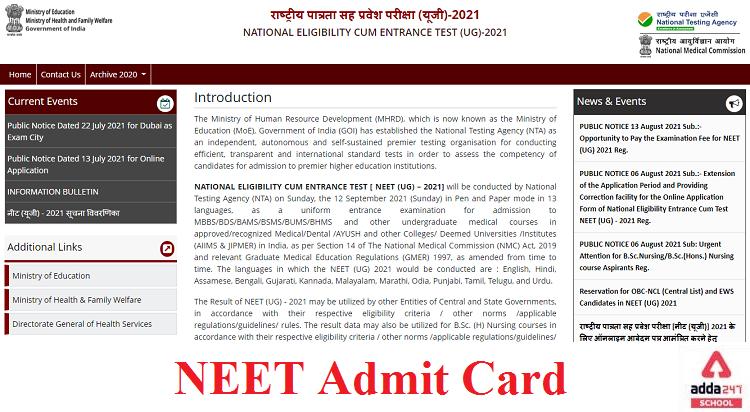 NEET UG Admit Card 2021 Released Download @ neet.nta.nic.in_50.1
