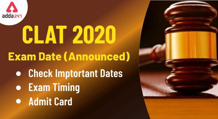 CLAT 2020 Exam Date
