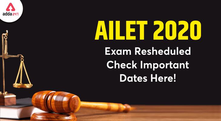 ailet exam date 2020
