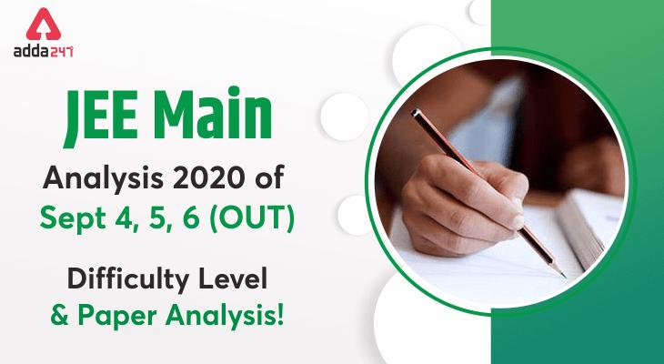 jee main exam analysis 2020