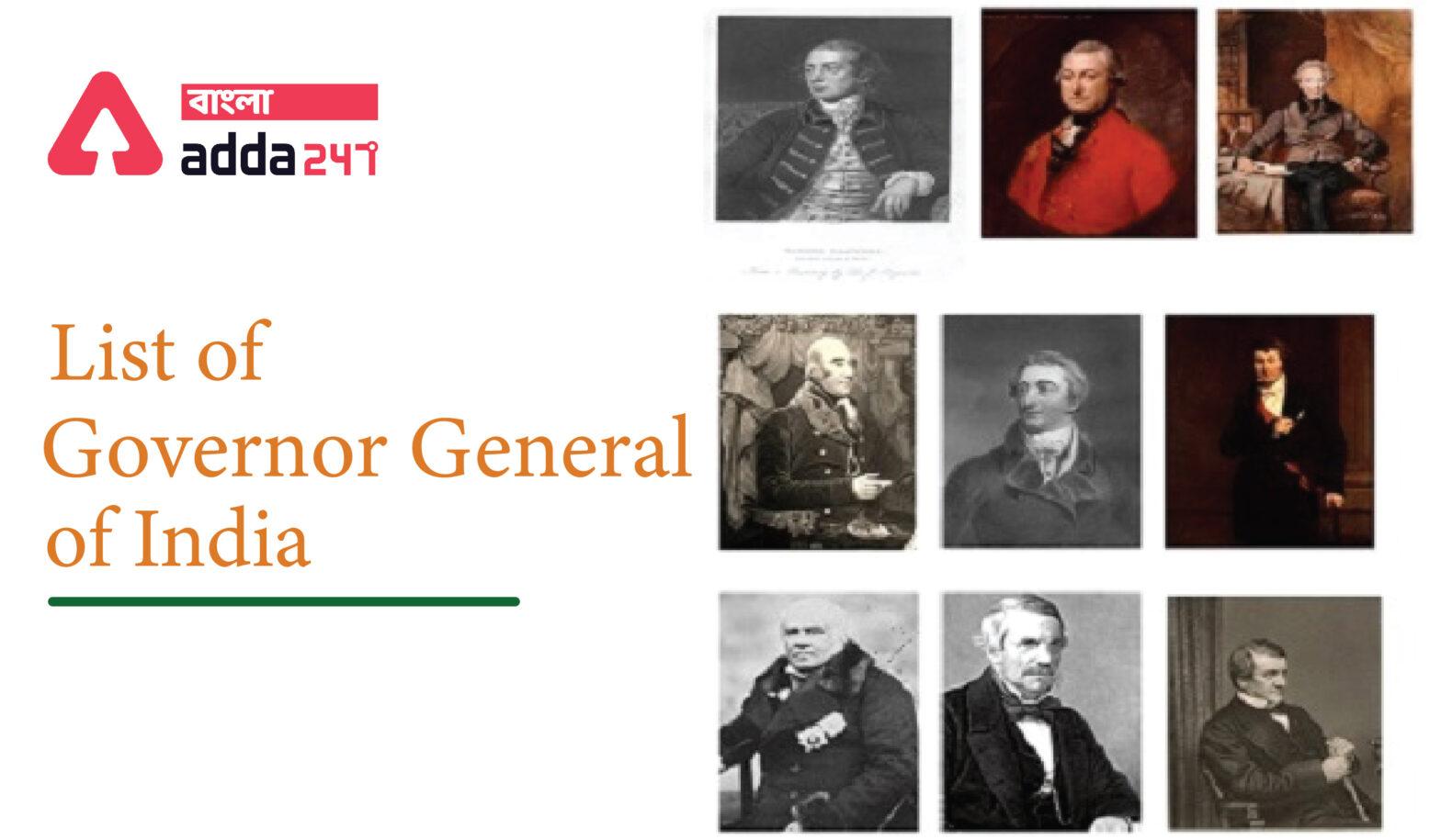 ভারতের গভর্নর-জেনারেলদের তালিকা(List of Governor General of India)_40.1