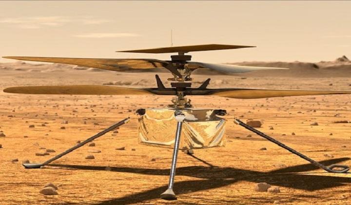 NASA's Ingenuity Helicopter Takes Flight On Mars   நாசாவின் Ingenuity ஹெலிகாப்டர் செவ்வாய் கிரகத்தில் பறந்தது .  _40.1