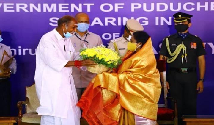 N Rangasamy Sworn in as Chief Minister of Puducherry   N ரங்கசாமி புதுச்சேரி முதல்வராக பதவியேற்றார்  _40.1
