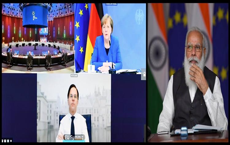 PM Modi Participates in Virtual India-EU Leaders' Meeting   இந்தியா-ஐரோப்பிய ஒன்றிய தலைவர்கள் மெய்நிகர் கூட்டத்தில் பிரதமர் மோடி பங்கேற்றார்  _40.1