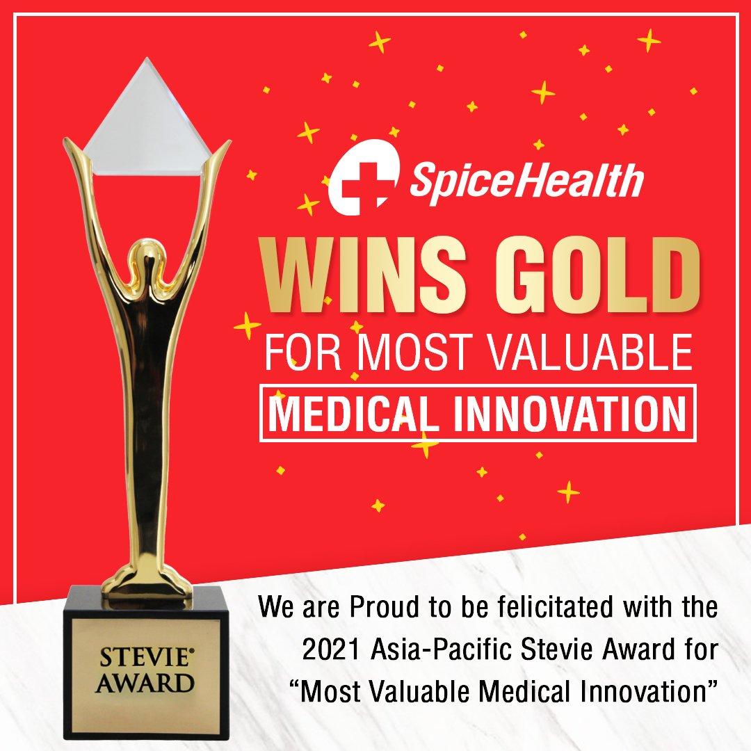 SpiceHealth wins Gold Stevie Award 2021   ஸ்பைஸ்ஹெல்த் கோல்ட் ஸ்டேவி விருதை 2021 வென்றது  _40.1