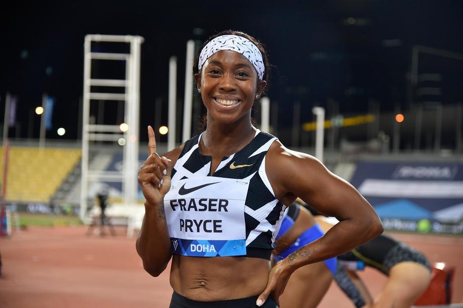 Shelly-Ann Fraser-Pryce becomes second fastest woman of all-time ahead   ஷெல்லி-ஆன் ஃப்ரேசர்-பிரைஸ் இரண்டாவது வேகமான பெண்மணி ஆனார்  _40.1