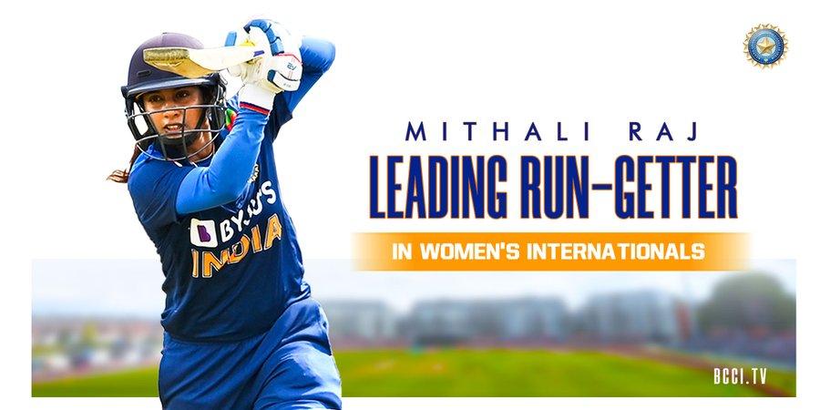 Mithali Raj surpasses Edwards to become highest run-getter | மிதாலி ராஜ் அதிக ரன்களைப் பெற்று எட்வர்ட்ஸை முந்தினார் |_40.1