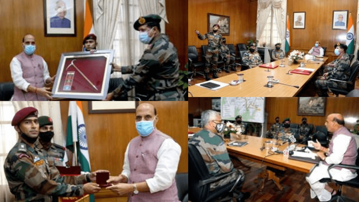 "Rajnath Singh flags-in Indian Army's Skiing Expedition ""ARMEX-21"" | ராஜ்நாத் சிங் இந்திய இராணுவத்தின் பனிச்சறுக்கு பயணம் ""ARMEX-21"" தொடங்கிவைத்தார் |_40.1"