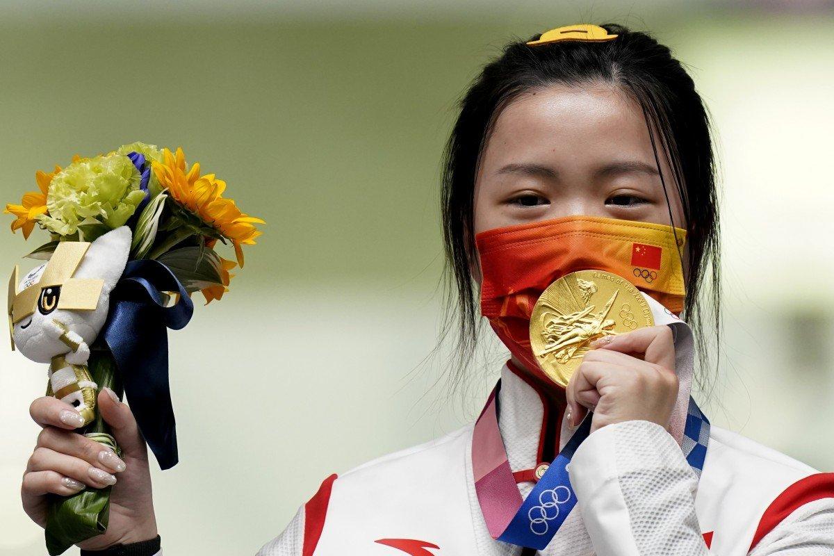 China's Yang Qian Wins First Gold Medal of Tokyo Olympics   டோக்கியோ ஒலிம்பிக்கின் முதல் தங்கப் பதக்கத்தை சீனாவின் யாங் கியான் வென்றார்  _40.1