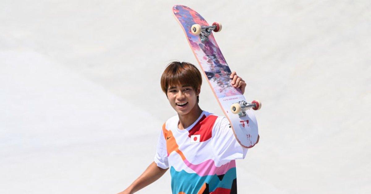 Japan's Yuto Horigome wins first ever Olympic gold medal in skateboarding   ஜப்பானின் யூட்டோ ஹொரிகோம் ஸ்கேட்போர்டிங்கில் முதல் ஒலிம்பிக் தங்கப் பதக்கத்தை வென்றார்  _40.1