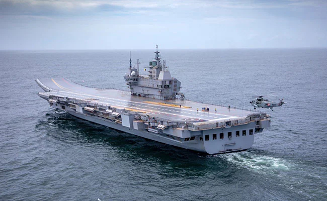 Indigenously designed INS Vikrant leaves port for maiden sea trials |_40.1