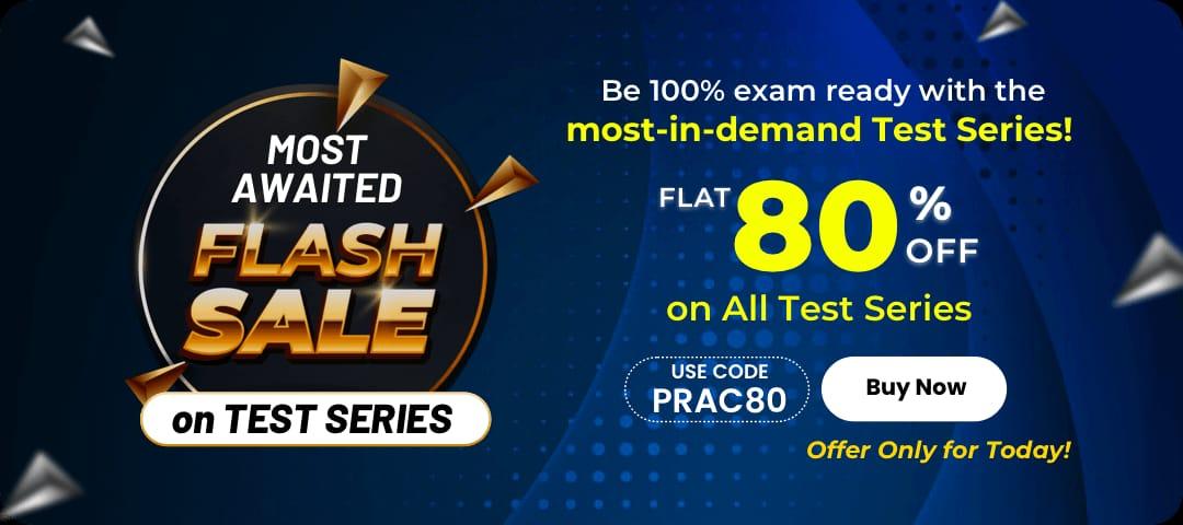 Flash sale on all test series | 80% off on all test series |_40.1