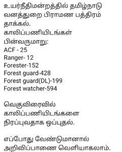 Forest Department Vacancies to Be Filled Soon | Expected Notification date |_50.1