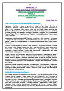 TNPSC Assistant Agricultural Officer and Assistant Horticultural Officer 2021 Syllabus_40.1