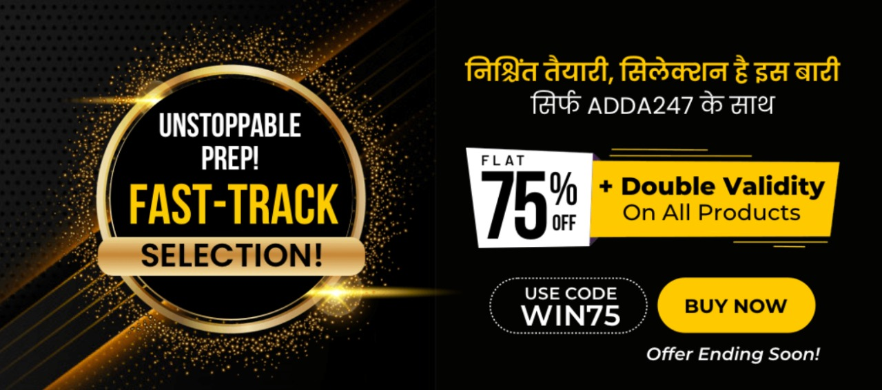 Fast track Selection offer | 75% offer + Double validity offer on all products |_40.1