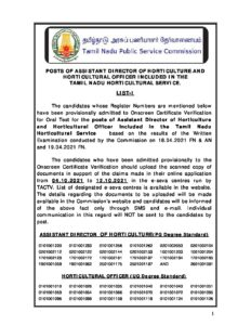 TNPSC Assistant Director of Horticulture and Horticultural Officer Exam Results_40.1