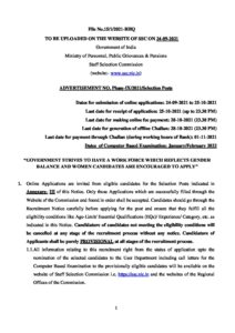 SSC Selection Post Phase- IX Official Notification_40.1