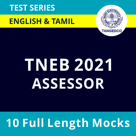 TNEB TANGEDCO Assessor 2021 Online Test Series in Tamil & English |_40.1