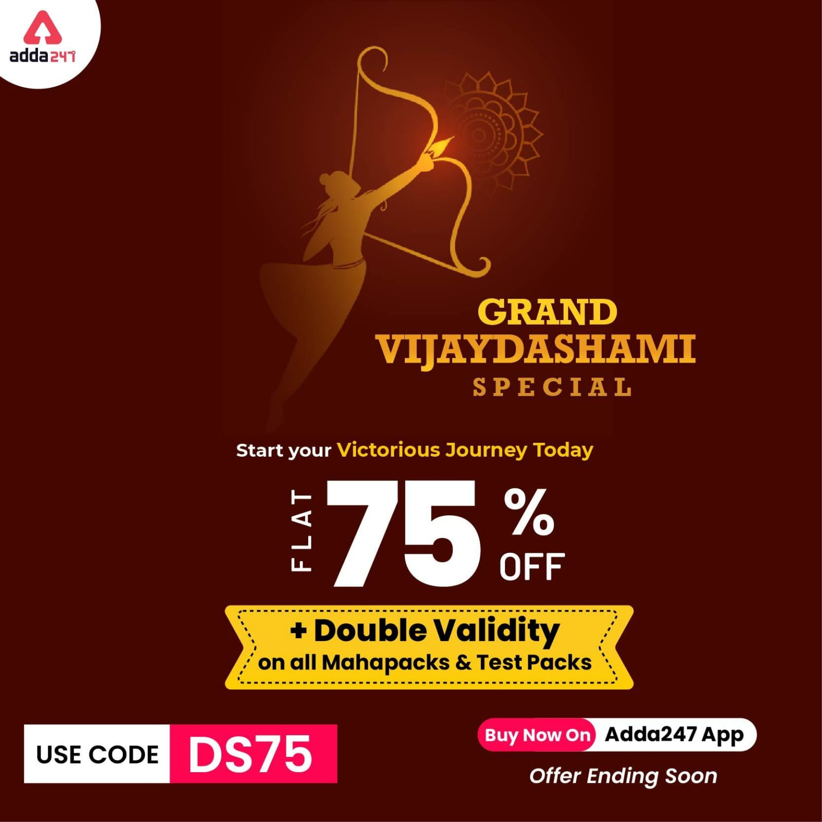 Grand Vijayadashami Offer | Double Validity Offer +75% offer on all products | Grab it now!!! |_50.1