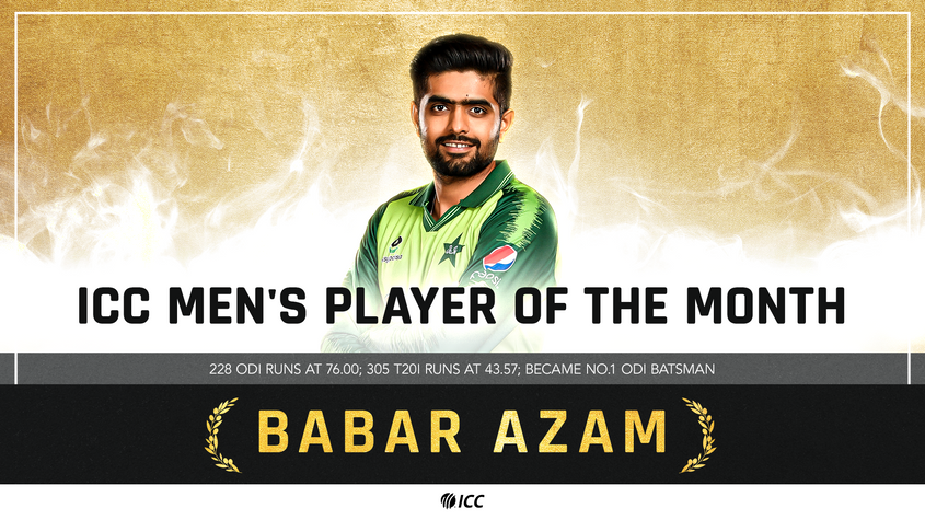 Pakistan's Babar Azam Wins ICC Players of the Month for April 2021 | 'ఏప్రిల్ 2021-ICC ప్లేయర్స్ ఆఫ్ ది మంత్'అవార్డ్ ను గెలుచుకున్న బాబర్ అజామ్ |_40.1