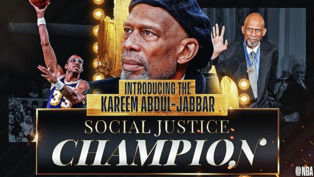 NBA creates social justice award, named for Abdul-Jabbar   అబ్దుల్-జబ్బర్ పేరుమీదుగా 'సోషల్ జస్టిస్ అవార్డు' ను రూపొందించిన NBA  _40.1