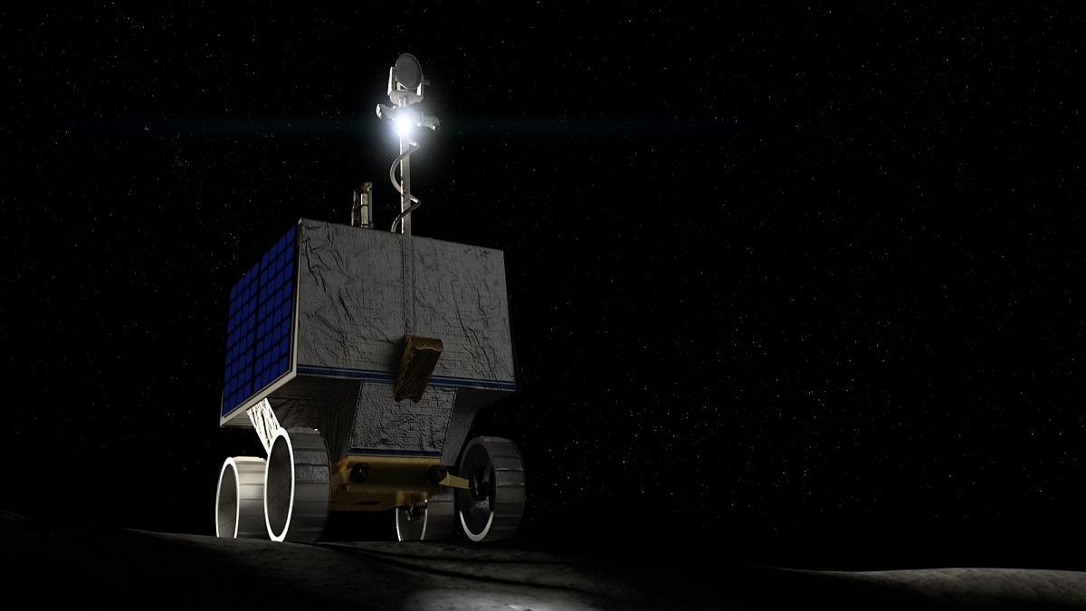 NASA to send its first mobile robot to search for water on the moon   చంద్రునిపై నీటిని శోధించడానికి నాసా తన మొదటి మొబైల్ రోబోట్ ను పంపనుంది  _40.1